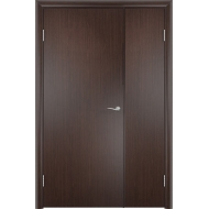 Межкомнатная двустворчатая дверь ДПГ Венге