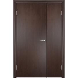 Межкомнатная двустворчатая дверь ДПГ Венге, неравнопольная