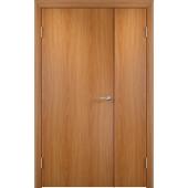 Межкомнатная двустворчатая дверь ДПГ Миланский орех