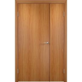 Межкомнатная двустворчатая дверь ДПГ Миланский орех, неравнопольная