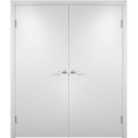 Межкомнатная двойная дверь ДПГ Белая