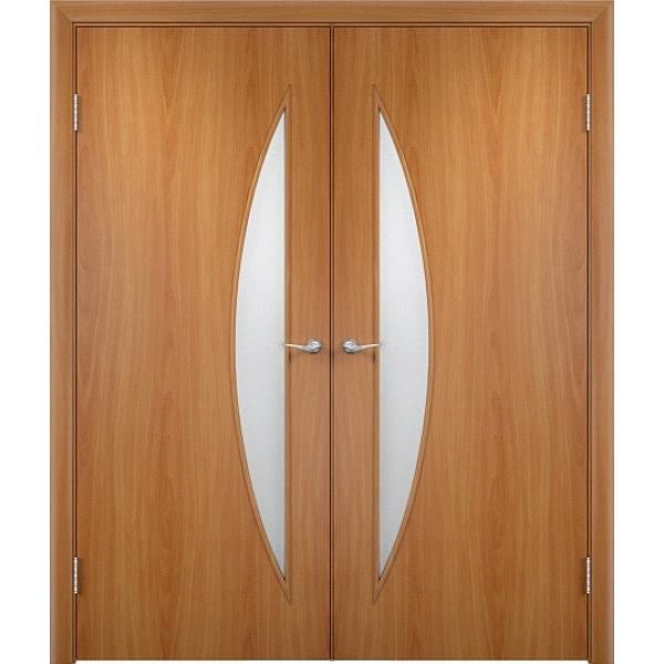 Межкомнатная двойная дверь Парус Миланский орех
