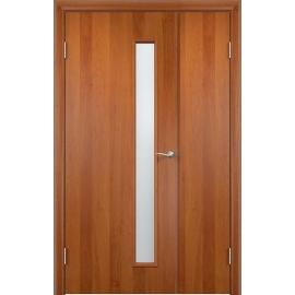Межкомнатная двустворчатая дверь Тетра Груша, неравнопольная