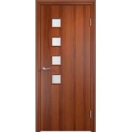 Межкомнатная ламинированная дверь С-13 Итальянский орех