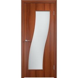 Межкомнатная ламинированная дверь Грация Итальянский орех