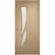 Межкомнатная ламинированная дверь Роса Беленый дуб
