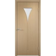Межкомнатная ламинированная дверь Рюмка Беленый дуб