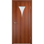 Межкомнатная ламинированная дверь Рюмка Итальянский орех