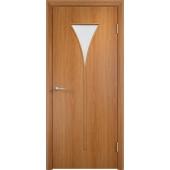 Межкомнатная ламинированная дверь Рюмка Миланский орех