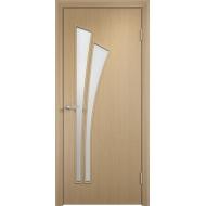 Межкомнатная ламинированная дверь Тюльпан Беленый дуб