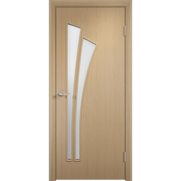 Межкомнатная дверь Тюльпан Беленый дуб