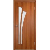Межкомнатная ламинированная дверь Тюльпан Груша