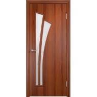 Межкомнатная ламинированная дверь Тюльпан Итальянский орех