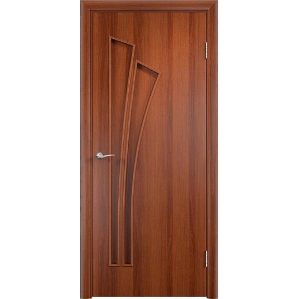 Межкомнатная дверь Тюльпан Итальянский орех