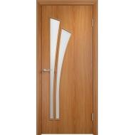 Межкомнатная ламинированная дверь Тюльпан Миланский орех