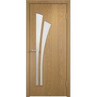 Межкомнатная ламинированная дверь Тюльпан Светлый дуб