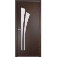 Межкомнатная ламинированная дверь Тюльпан Венге