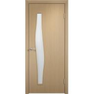 Межкомнатная ламинированная дверь Волна Беленый дуб