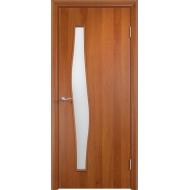 Межкомнатная ламинированная дверь Волна Груша