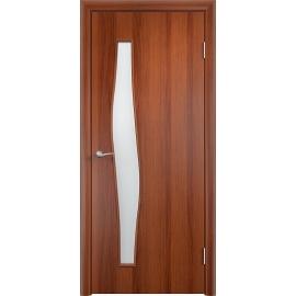 Межкомнатная ламинированная дверь Волна Итальянский орех