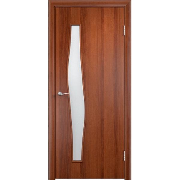 Межкомнатная дверь Волна Итальянский орех