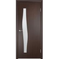 Межкомнатная ламинированная дверь Волна Венге