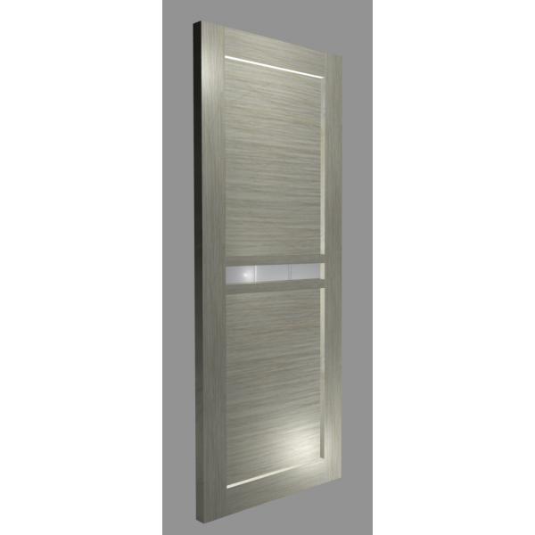 Межкомнатная дверь Экошпон модель 2/4 дуб светлый