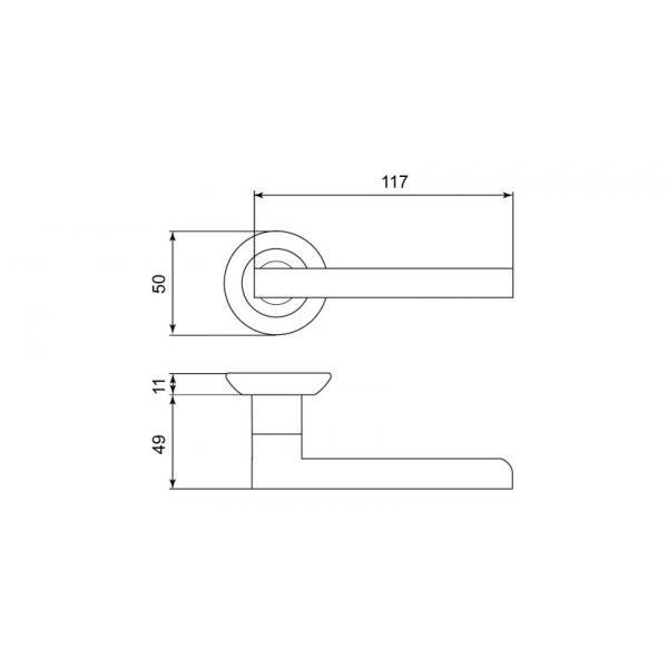 Дверная ручка LEICHT «GT-82»