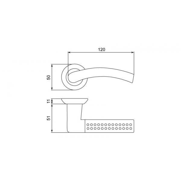 Дверная ручка LEICHT «GT-68»