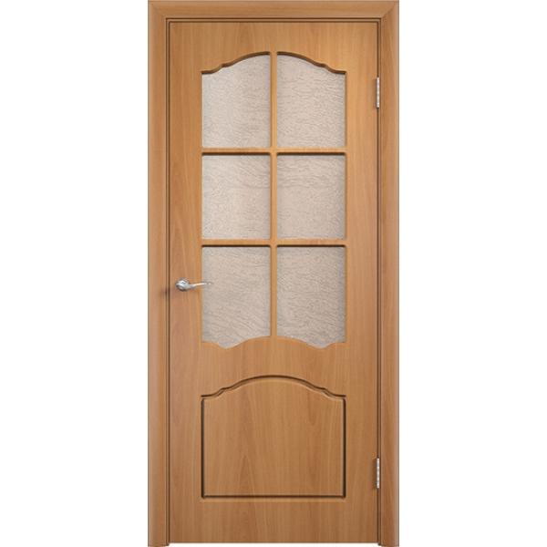 Межкомнатная дверь ПВХ Лидия Миланский орех