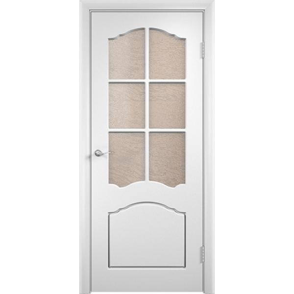 Межкомнатная дверь ПВХ Лидия Белая