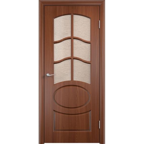 Межкомнатная дверь ПВХ Неаполь-2 Орех