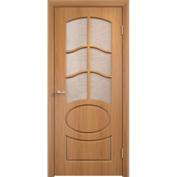Межкомнатная дверь ПВХ Неаполь-2 Миланский орех