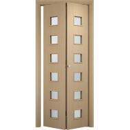 Складная межкомнатная дверь Альта Беленый дуб