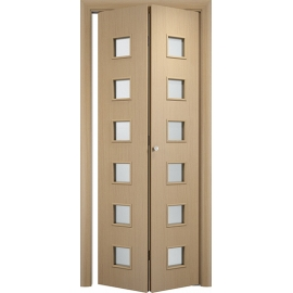 Складная межкомнатная дверь Альта, Беленый дуб, книжка