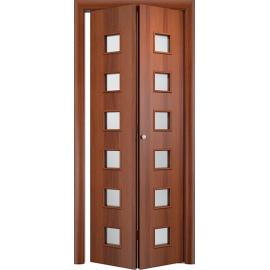 Складная межкомнатная дверь Альта, Итальянский орех, книжка