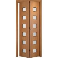 Складная межкомнатная дверь Альта Миланский орех