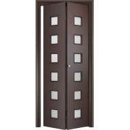 Складная межкомнатная дверь Альта Венге