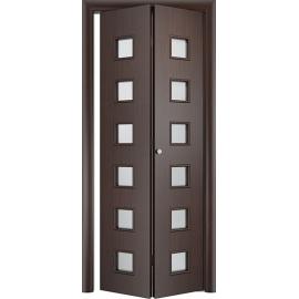 Складная межкомнатная дверь Альта, Венге, книжка
