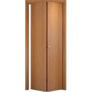 Складная межкомнатная дверь ДПГ Миланский орех