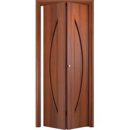 Складная межкомнатная дверь Парус Итальянский орех
