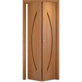 Складная межкомнатная дверь Парус Миланский орех