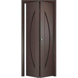 Складная межкомнатная дверь Парус Венге