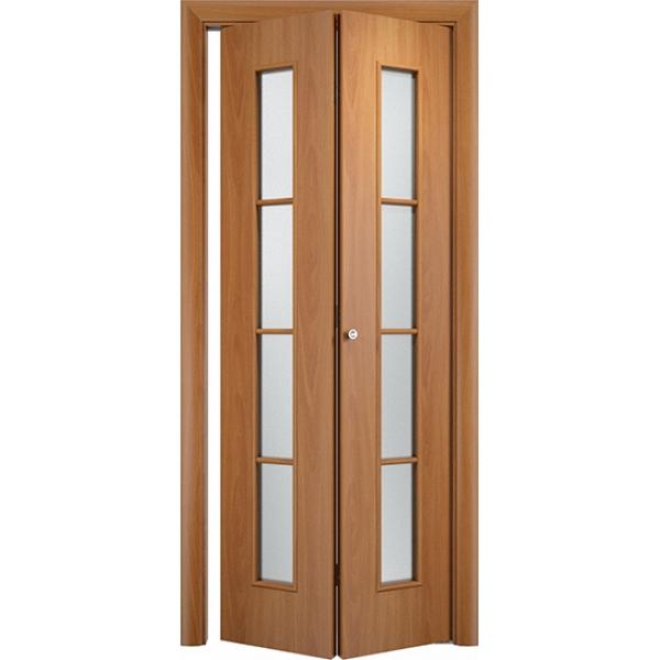 Складная межкомнатная дверь Престиж Миланский орех