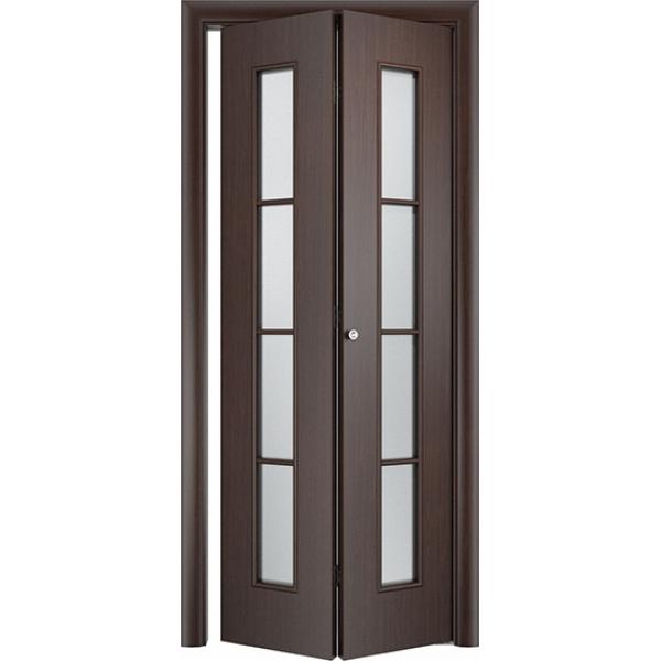 Складная межкомнатная дверь Престиж Венге